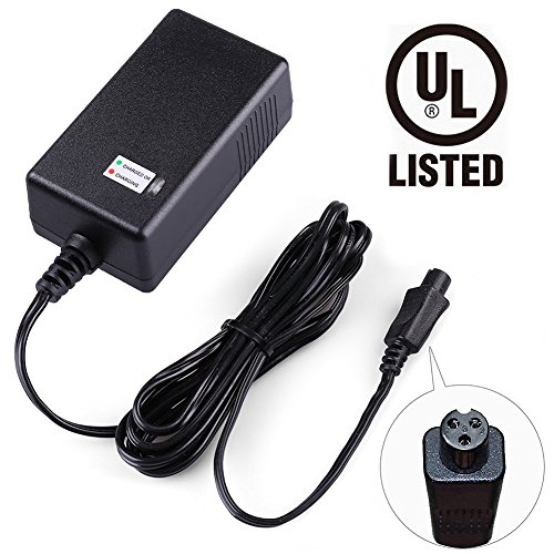 LotFancy 36V 42V 1A Lithium Battery Charger, Compatible with Razor Two Wheels Electric Scooters, Swagtron T1, T3, T6, Swagway X1, IO Hawk, Power Supply Adapter, UL Listed, Mini 3-Prong Connector