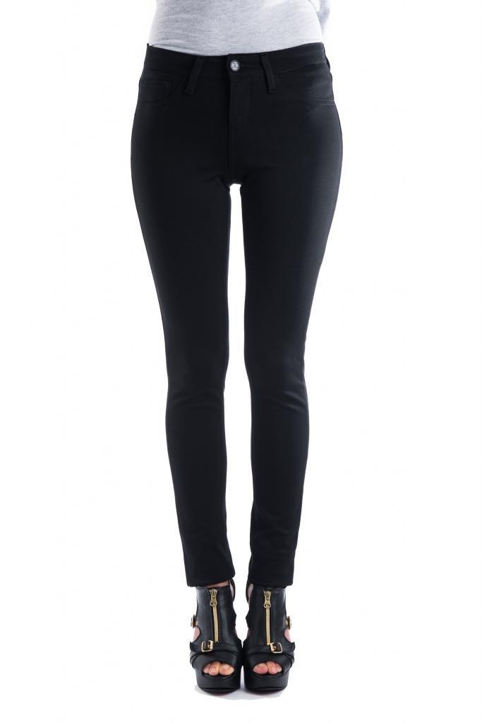Clio Couture Women's Ponte Knit Skinny Pants 1 Black