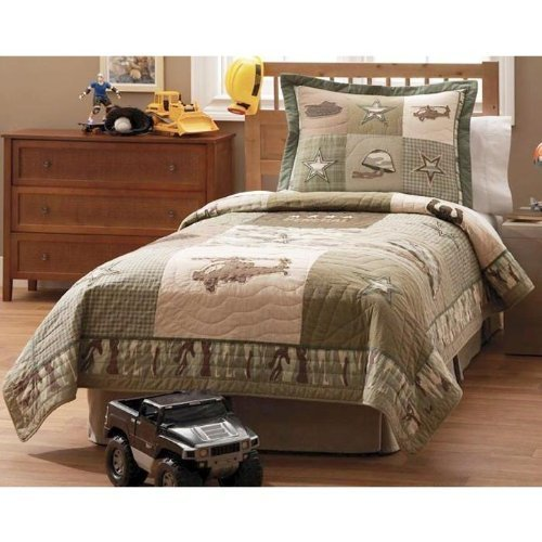 Pem America Alpha Bravo Charlie Twin Quilt with Sham by Pem America