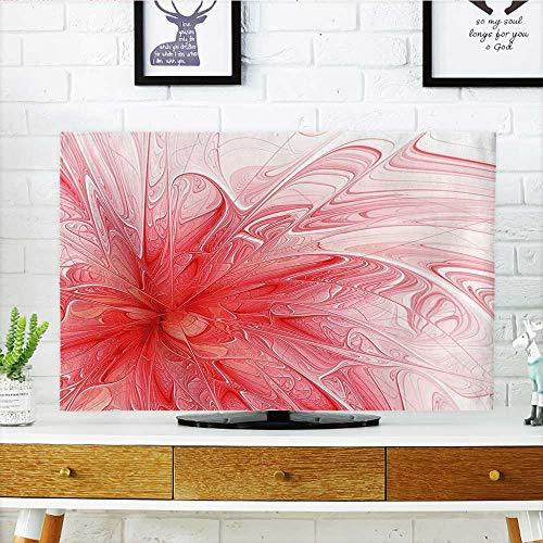 Cord Cover for Wall Mounted tv Decor Abstract Flower Like Surreal Paint Splash Art with 3D Effects with Free Cover Mounted tv W36 x H60 INCH/TV 65