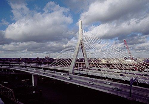 Boston, MA Photo - The Leonard P. Zakim Bunker Hill Memorial Bridge- Highsmith