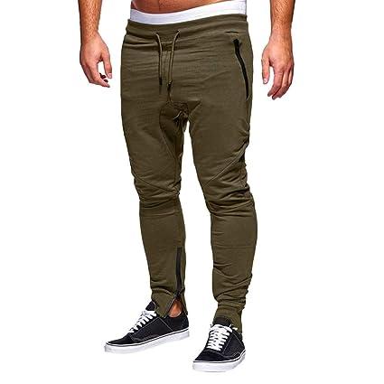 Gusspower Pantalón para Hombre, Pantalones Largos Deportivos Chándal Algodón Fitness Jogging