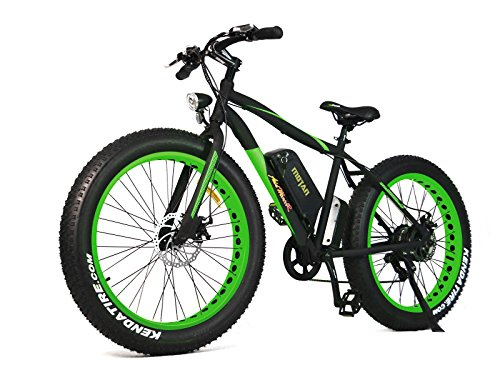 Addmotor MOTAN New Updated Electric Bicycles For Sale M-550 48V 500W Bafang Motor 10.4AH Sansung Lithium Battery Mountain Bicycle With Shimano 7 Speeds Fat Tire (Green) Review