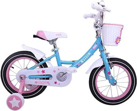 Bicicletas Para Niños Niña Azul 12, 14, 16 Pulgadas Carretera Al Aire Libre Regalo De Cumpleaños De La Niña: Amazon.es: Deportes y aire libre