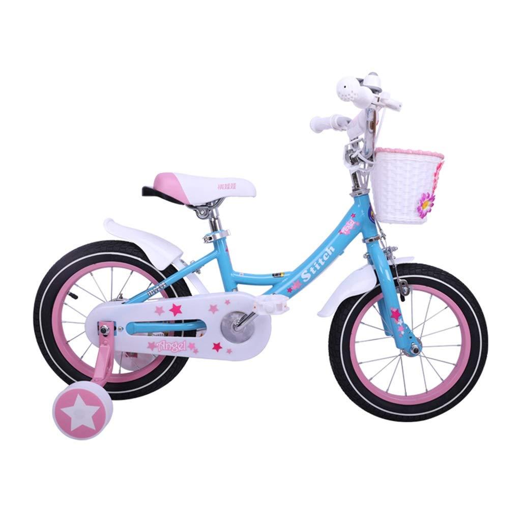 子供の自転車ブルーガールバイク写真ブルーガールバイク12、14、16インチバイク屋外ロードバイク少女の誕生日プレゼント (Color : Blue, Size : 12inches) 12inches Blue B07NZ15BQR
