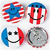 Mini Patriotic Smile Face Buttons