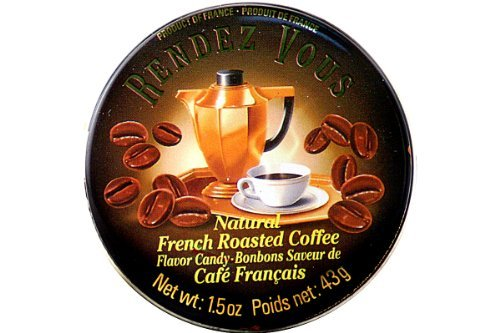 Bon Cafe - Natural French Roasted Coffee Flavor Candy (Bonbons Saveur De Cafe Francais) - 1.5oz [Pack of 6]