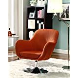 Coaster Contemporary Orange Retro Swivel Chair