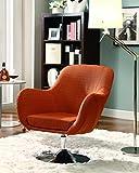 Coaster Contemporary Orange Retro Swivel Chair For Sale
