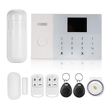 OWSOO 433MHz Sistema de Alarma gsm&WIF Inalámbrica Sistema de Marcación Automática de Alarma con Pantalla LCD