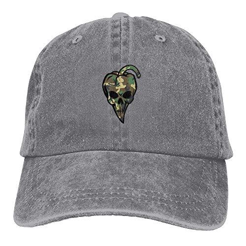 Hat Gorras Skull béisbol hanbaozhou Chili Caps Denim Womens Baseball Shaped Pepper Camouflage ATRqY8