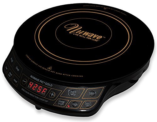 NuWave PIC Gold 1500W Portable Induction Cooktop Countertop Burner, Gold Review