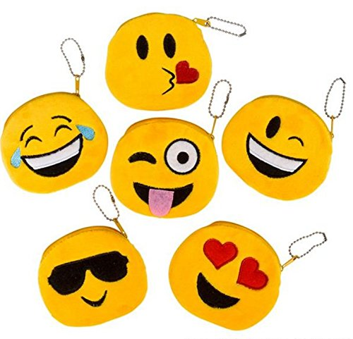 Cute Emoji Coin Purse - Pack of 6
