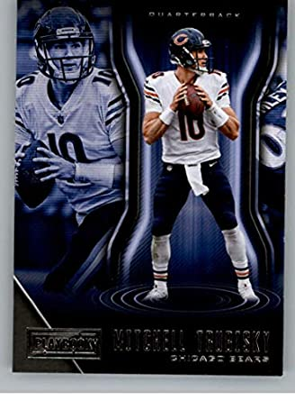 2018 Panini Playbook  73 Mitchell Trubisky Chicago Bears NFL Football  Trading Card 9c941c455