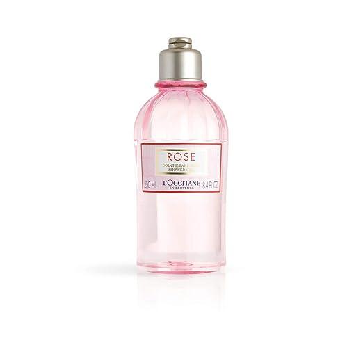 L'Occitane Gentle Rose Shower Gel Enriched with Rosa Centifolia Floral Water, 8.4 fl. oz.