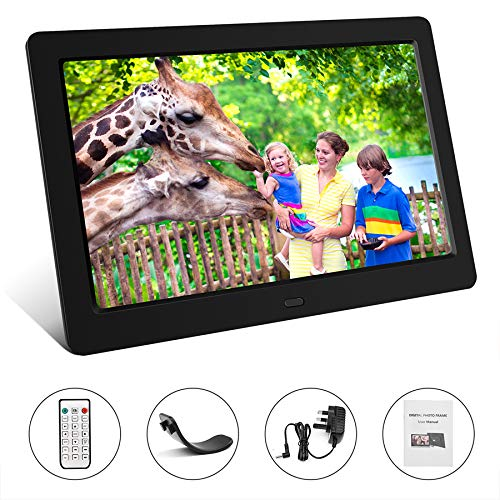 Tenswall 10 Inch Digital Photo Frame Upgraded HD 1280x800, Digital Picture Frame Full IPS Display Photo/Music/Video/Calendar/Time, Auto On/Off Timer, Support 32GB USB Drives/SD Card,Remote Control by Tenswall (Image #9)