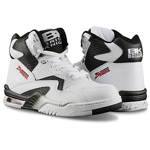 British Knights: Control Hi White Black Sneaker (10.5)