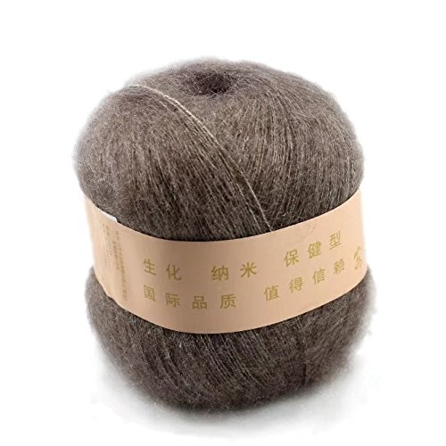 Celine lin One Skein Soft&Warm Angola Mohair Cashmere Wool Knitting Yarn 50g,Camel