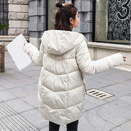Oudan En Mode Blanc Manteau De Rembourré Occasionnel Capuchon D'hiver Plein Épaissir Longues Chaud La Vestes Manteaux Manteau Dames Col Air Femme À rnIwrqU
