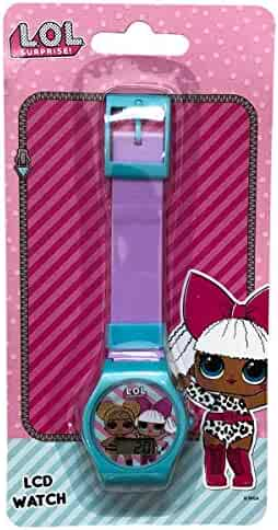L.O.L Surprise Digital Watch for Girls Neon Fancy Colors (Purple/Turquoise)