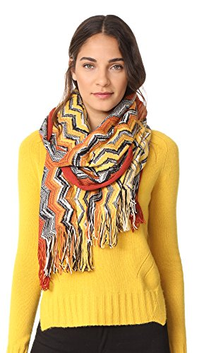 Missoni Women's Wool Zigzag Scarf, Orange, One Size by Missoni