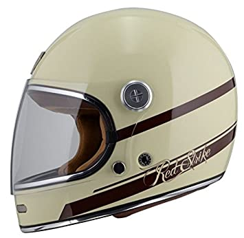 By City - Casco Retro ROADSTER FIBRA Color Crema Talla XL