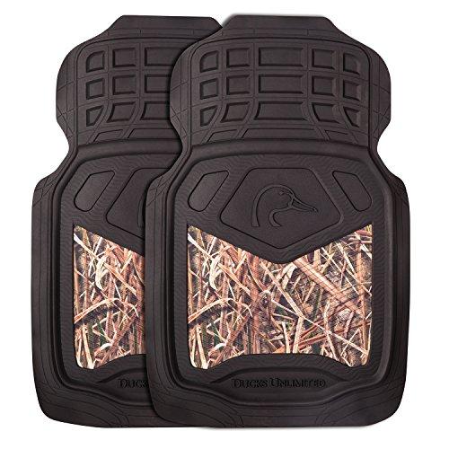 Ducks Unlimited Camo Floor Mats | Front | Du Shadow Grass Blades | 2 Pack, DU Shadow Grass Blades, 2 Pack