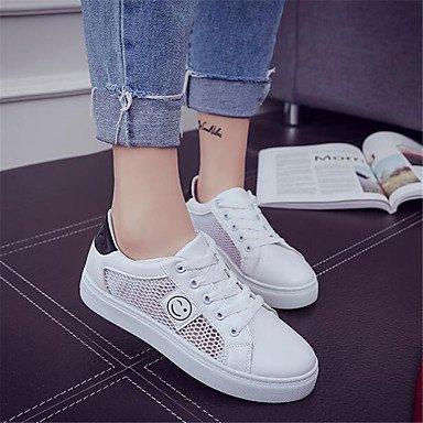 5 Lienzo Plano Informal Uk6 De Us8 De UK7 Confort Confort Pu CN41 Ue39 EU40 La Blanco RTRY Cn40 Sneakers Blanco US9 5 Mujer Primavera YT7ZZv