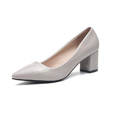 Xianshu Frauen Lackleder High Heel Pumps spitz Zeh Gitter Gericht Schuhe
