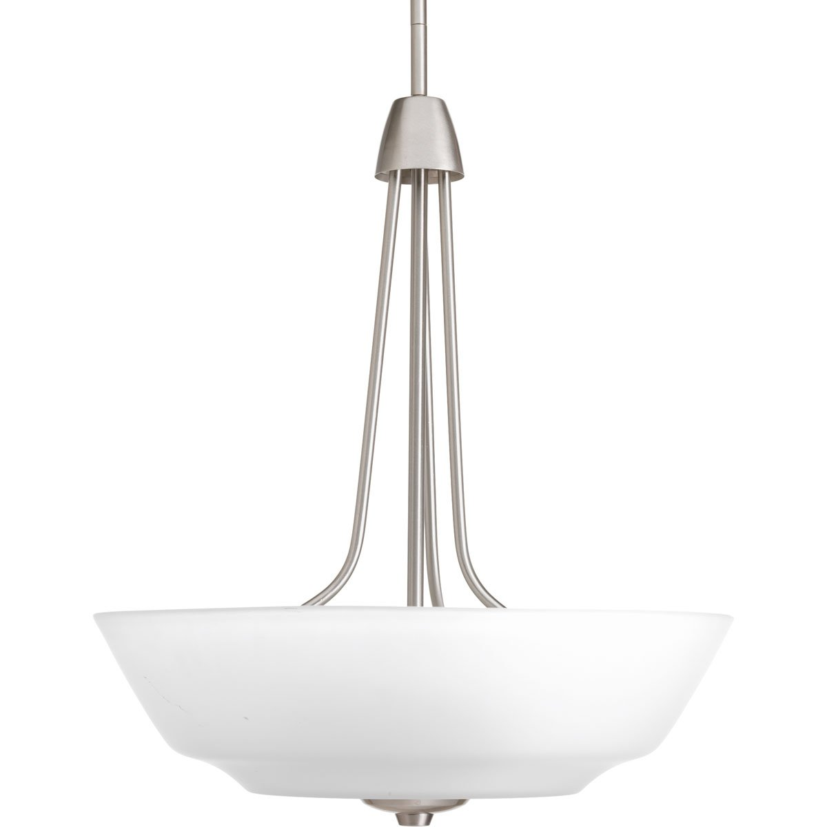 Progress Lighting P3949-09WB 3-Light Inverted Pendant with Bulb Etched Glass Bowl