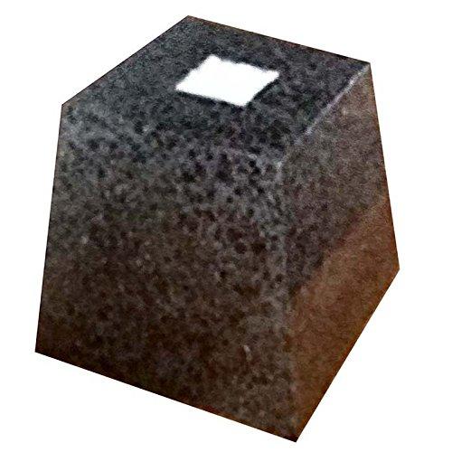御影石 柱受 黒 角 6寸 上180×底240×高200 アミ代不 B01N0BOUY3