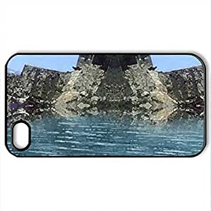 lintao diy ALTIT HUNZA RIO CREATION - Case Cover for iPhone 4 and 4s (Ancient Series, Watercolor style, Black)