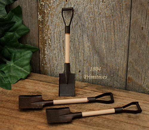 Primitive & Country Style 12 ~ Rusty Tin Shovels for Crafts 3-1/2'' Rustic Home ()