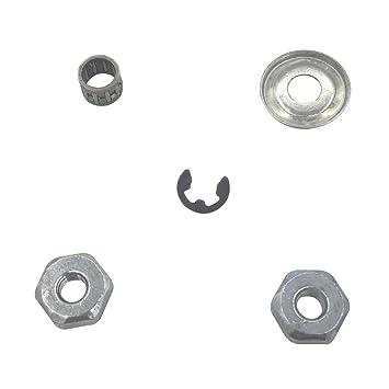 Shioshen Barra de Embrague arandela Aguja cojinete Clip Tuerca Kit para STIHL MS180 MS170 MS210 MS230