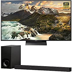 """Sony XBR75X900F 75"""" 4K HDR10 HLG Dolby Vision Triluminos UHD LCD Android TV with Google Assistant & X1 Processor 3840x2160 + Sony HTZ9F 3.1Ch Dolby Atmos Soundbar with Built-in WiFi & Bluetooth"""