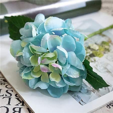 ShineBear Artificial Flowers Hydrangea Silk Mini Sweet Pea Flower dekor Plant Bouquet Fake Flowers Garden Decor for Home Crafting - (Color: ()