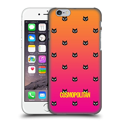 Official Cosmopolitan Orange And Pink Lovey The Cat Hard Back Case for Apple iPhone 6 / 6s