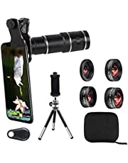 Phone Camera Lens Kit for iPhone, Samsung, Android, 20X Telephoto Zoom Lens, Phone Wide Angle & Macro Lens, Fisheye, CPL Lenses Compatible with iPhone 11 X Xs XR 8 7 6 Plus and Other Smartphone