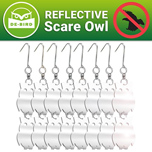 Floating Duck House (Reflective Bird Repellent Owl - Attractive Decoy Will Keep Woodpeckers and Nuisance Birds Away From Property - Includes Free Expert User Guide - 8 Pack - Save Time & Money on Cleanups and Repairs)