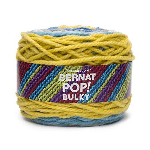 Bernat Pop Bulky Yarn, 9.8 oz, Gauge 6 Super Bulky, Radiant ()