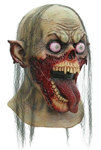 Tongue Slasher Adult Latex Mask Zombie Monster Halloween Ghoulish (Monsters Halloween List)