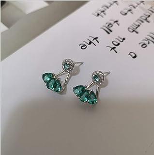 YOYOYAYA S925 Argent Mesdames Accessoires Filles Minimaliste Sauvages Bordées d'oreilles Party Date Water Drops