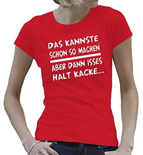 Touchlines - Camiseta - Manga Corta - para mujer Rojo