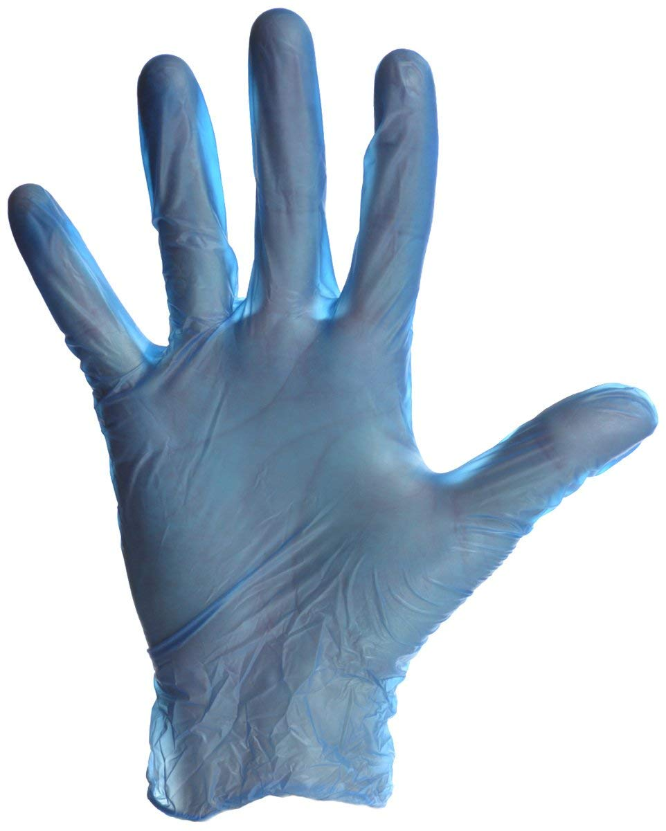 Daxwell ビニール手袋 パウダーフリー 特大 ブルー 100枚入りボックス B074HG4HPW