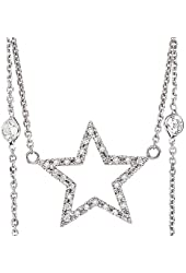 Beautiful 0.5ctw 14k White Gold Round Shape Diamond Pendant with Chain