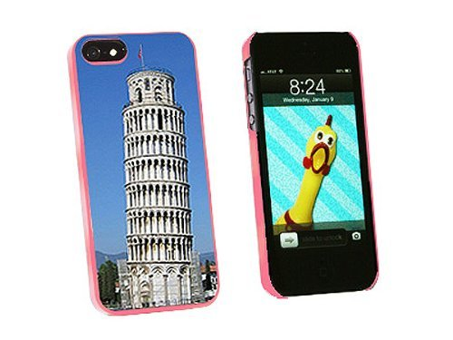 Graphics and More Leaning Tower of Pisa Italy Snap-On Hard Protective Case for iPhone 5/5s - Non-Retail Packaging - Pink