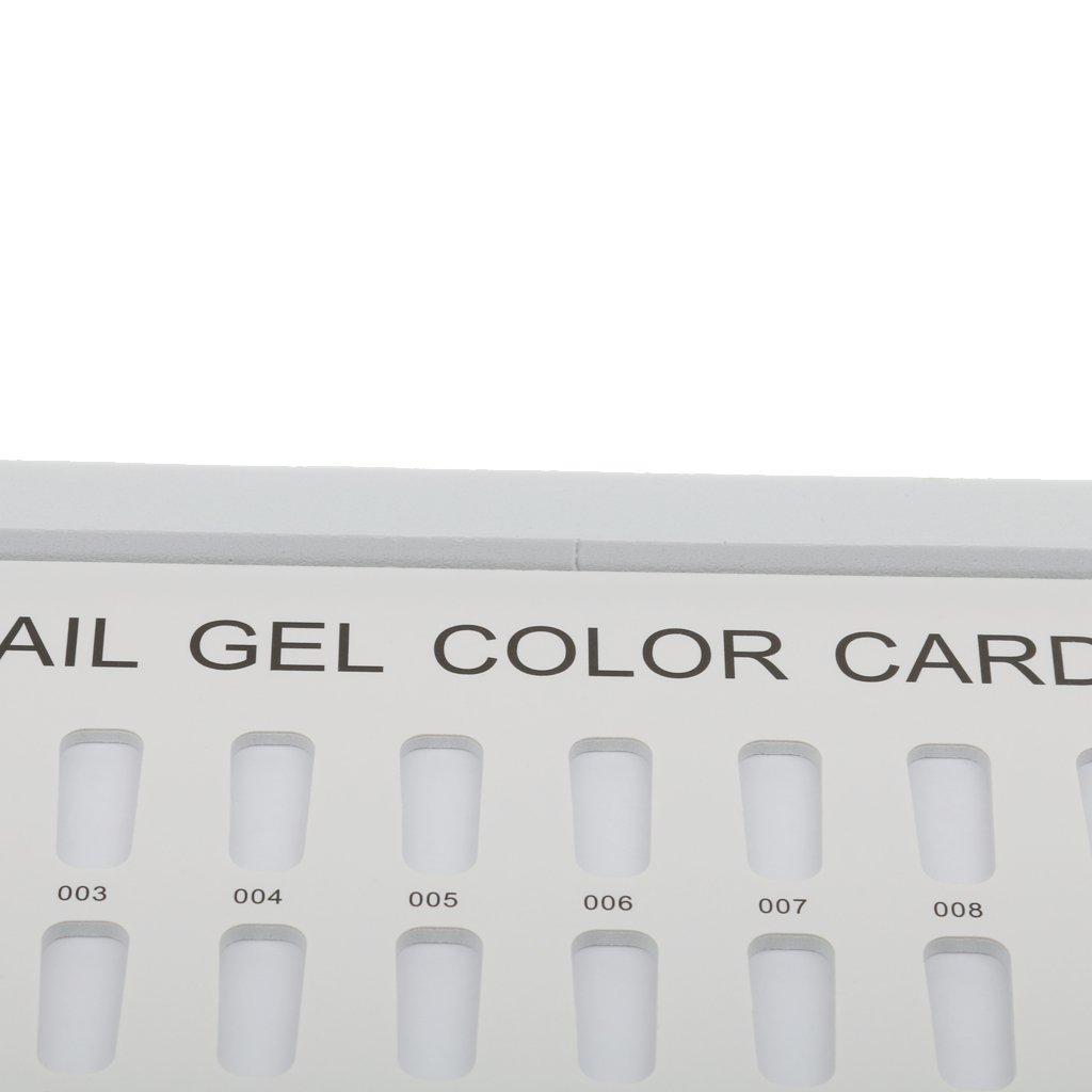Sharplace 180 Farben Nagelkunst Präsentationsbuch für Nailart Display Anzeigen - Dunkelblau