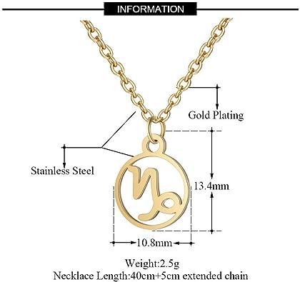 Noble collar signo del zodíaco hombre del agua cadena dorado astrología horóscopo nuevo