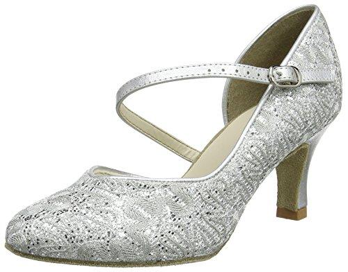 Bl504 So Latein Silver Standard Standard Latein Damen Danca amp; Silber amp; Tanzschuhe Sparkle 6rZzq68