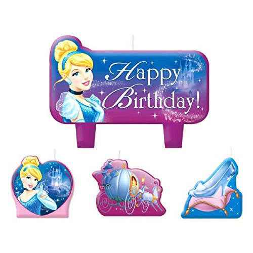 Mini Molded Cake Candles | Disney Cinderella Collection | Party Accessory ()